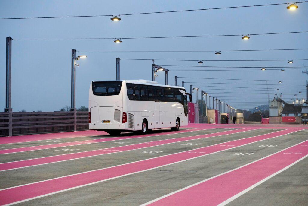 Wembley Stadium multi-storey coach parking complex