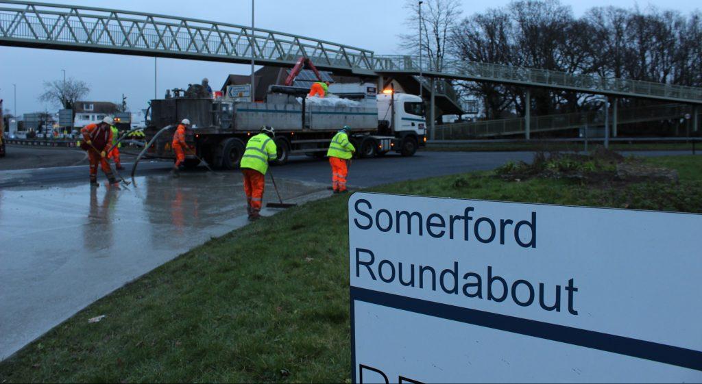 Hardipave™ on Somerford Roundabout